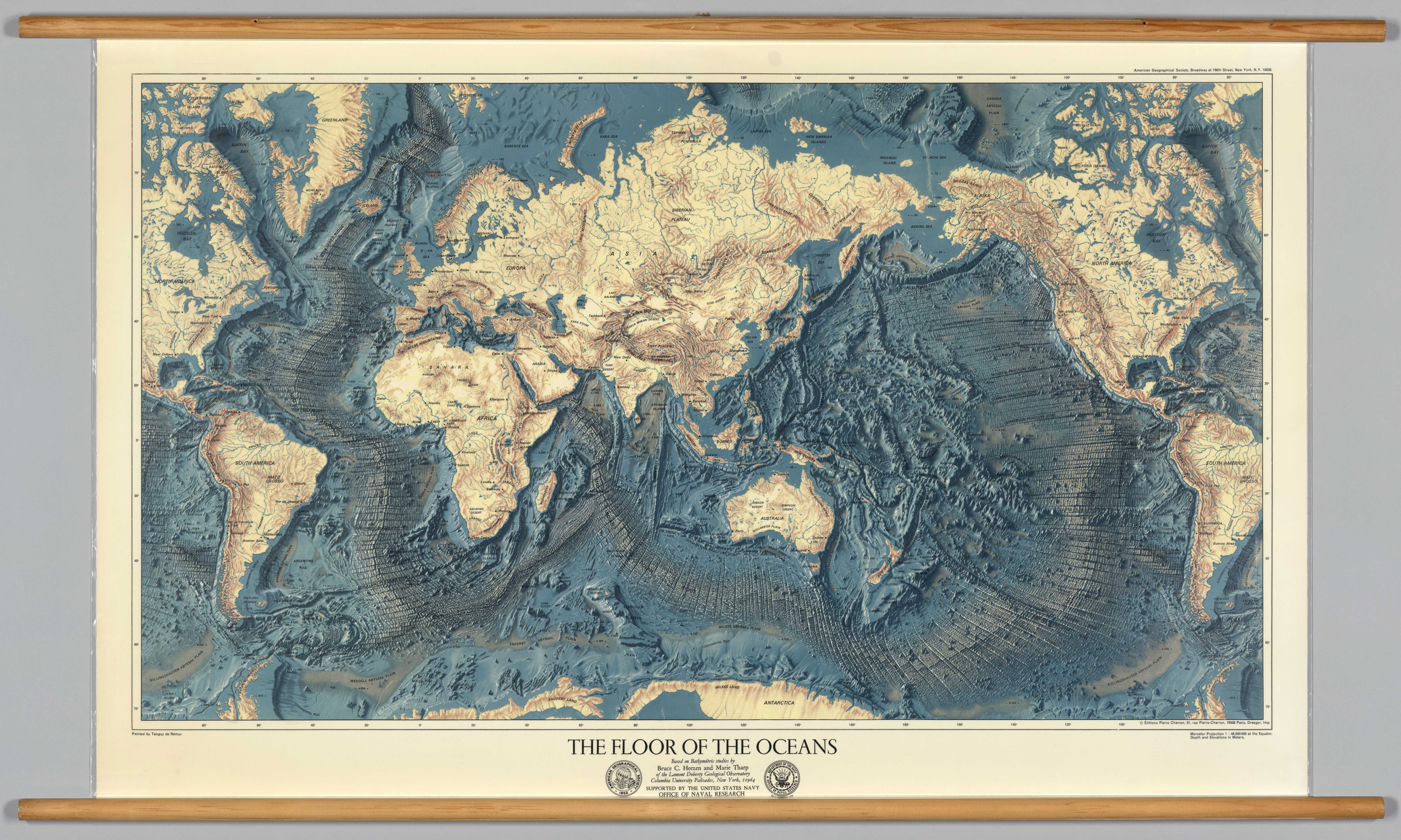 High Resolution Map Of The Worlds Ocean Floors AreWeDreaming - Map of world oceans